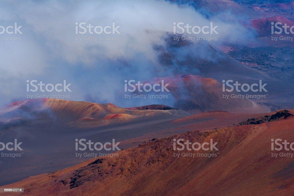Inside the Haleakala Volcano stock photo