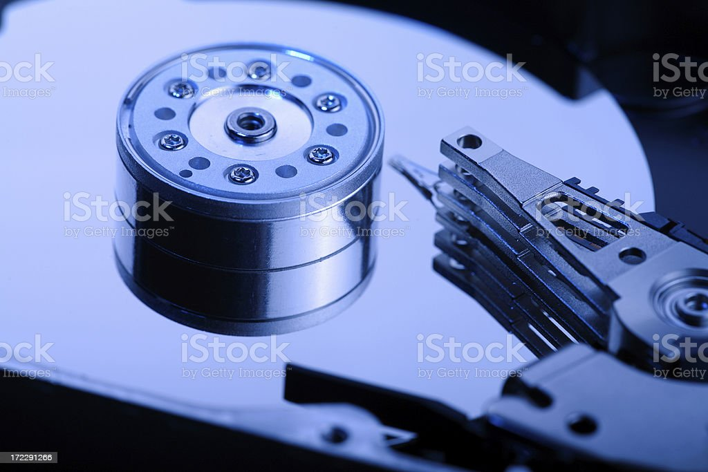 inside the hard drive. royalty-free stock photo