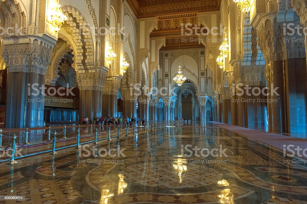 Inside The Hassan II Mosque, Casablanca, Morocco North Africa stock photo
