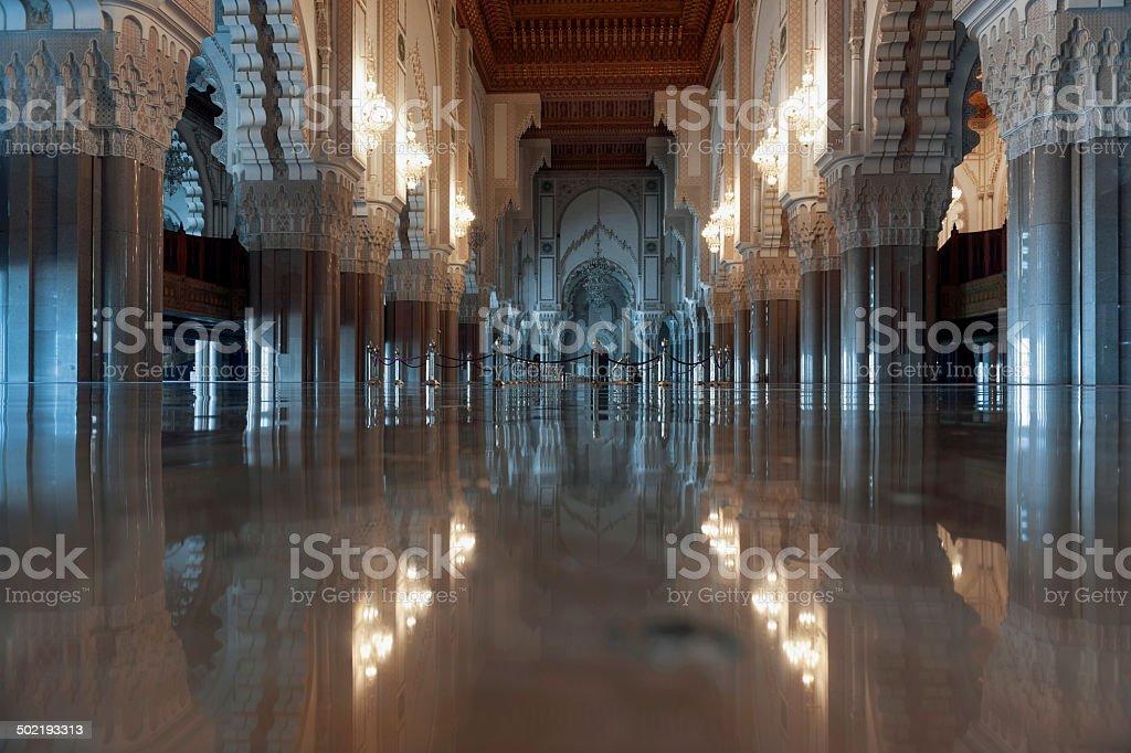 Inside The Hassan II Mosque, Casablanca, Morocco stock photo