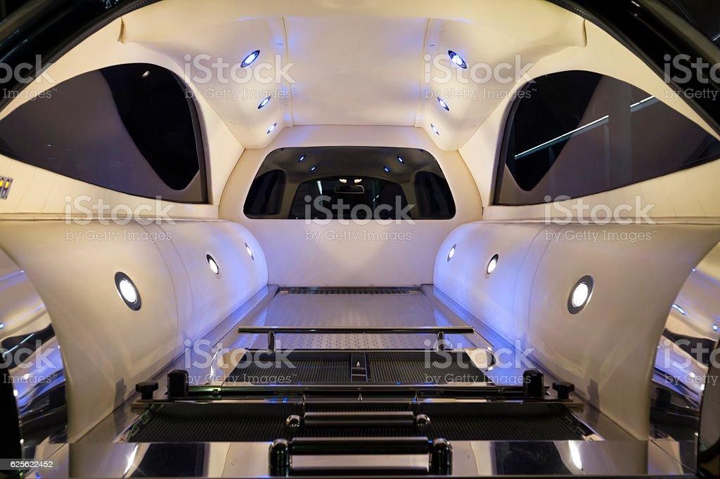 inside the hearse stock photo