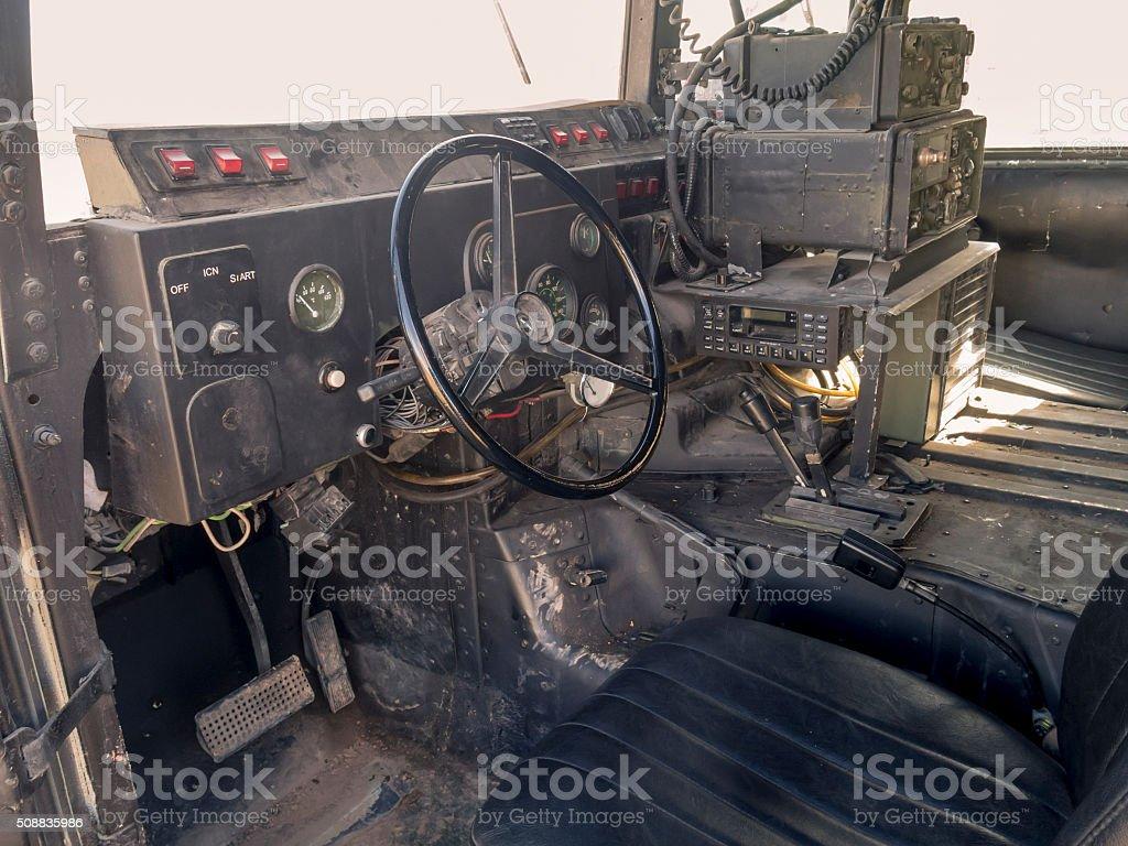 Inside the Humvee stock photo