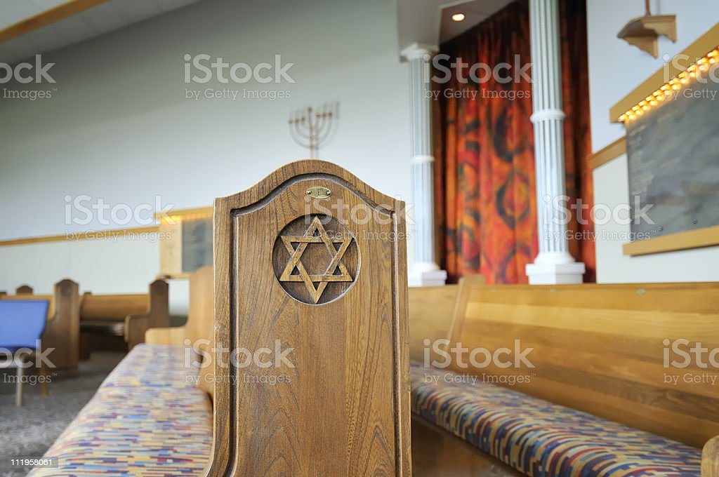 Inside the Jewish Temple royalty-free stock photo
