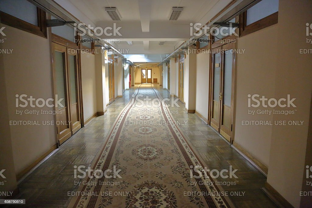 Inside the largest library in Europe, Russia stock photo