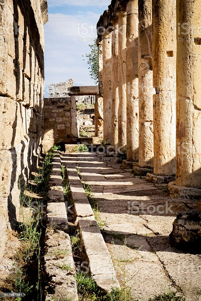 Inside the Latrine at Hierapolis stock photo
