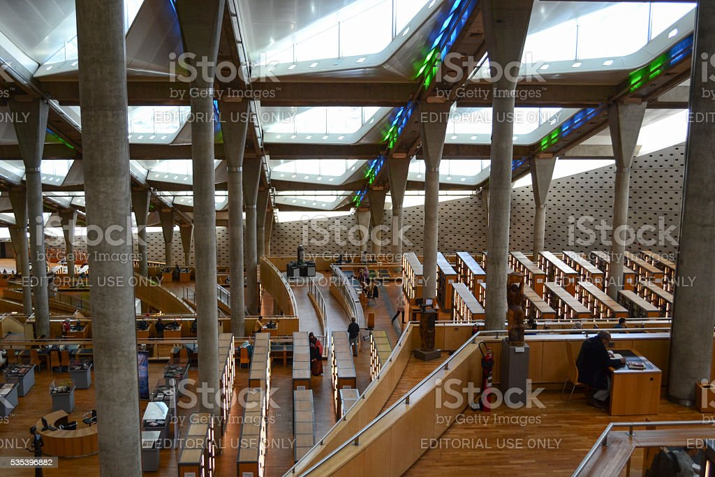 Inside the Library of Alexandria royalty-free stock photo