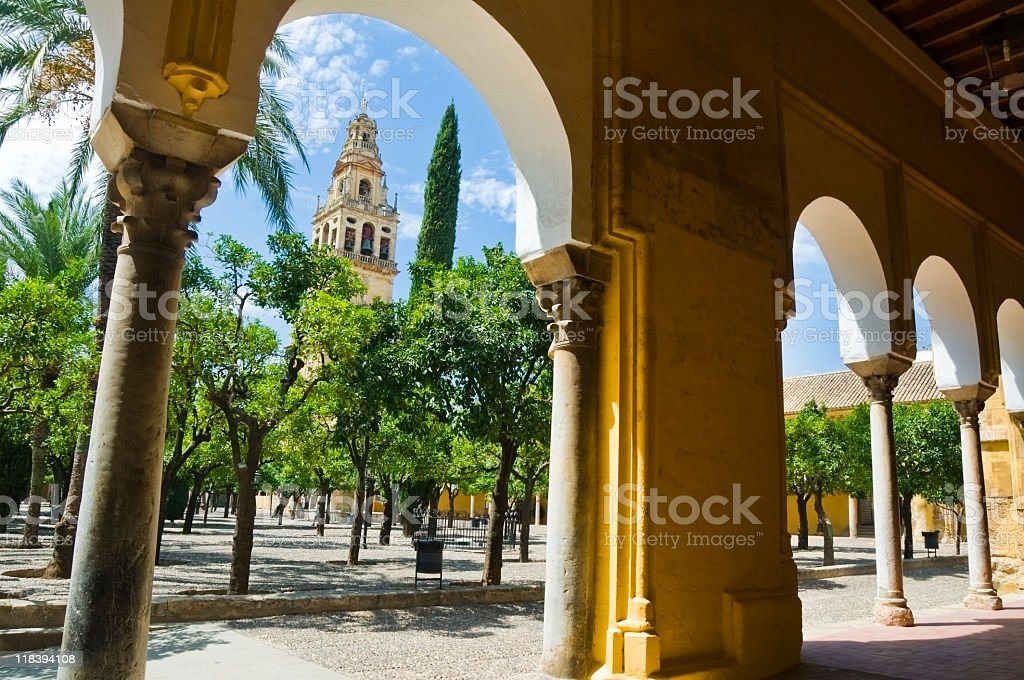 Inside the Mezquita royalty-free stock photo
