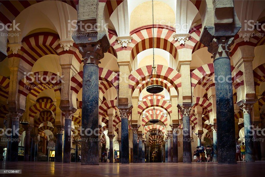 Inside the Mezquita stock photo