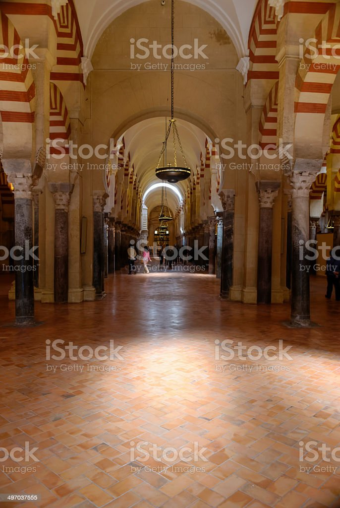 Inside the mosque, cathedral. Cordoba, Andalusia, Spain. stock photo