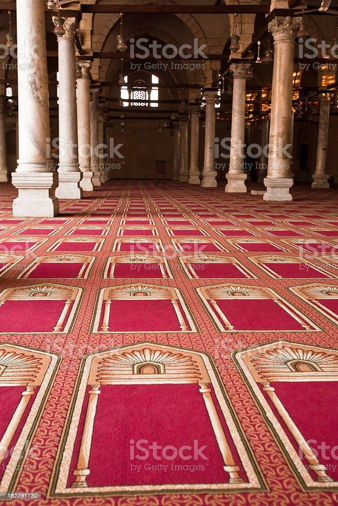 Inside the mosque stock photo