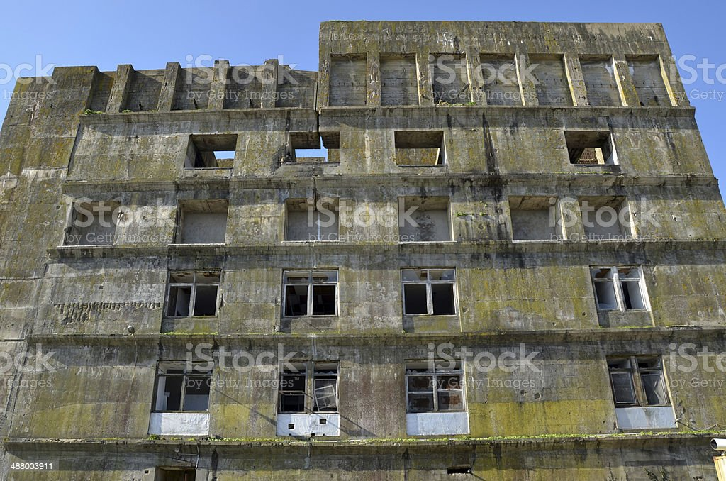 Inside the nazi U-boot base in Lorient, Brittany stock photo