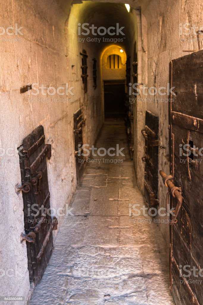 Inside the Old Prison under the Doge's Palace in Venice - Italy stock photo