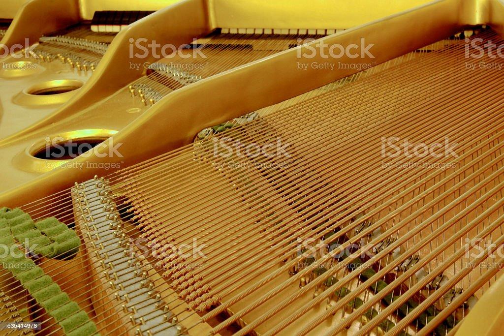 Inside The Piano stock photo
