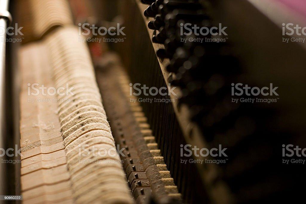 Inside the Piano royalty-free stock photo