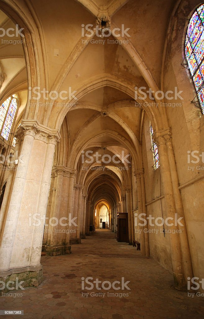 Inside the Place Saint-Pierre, Chartres, France stock photo