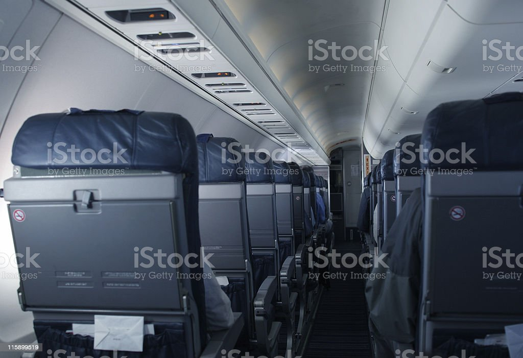 Inside the plane royalty-free stock photo