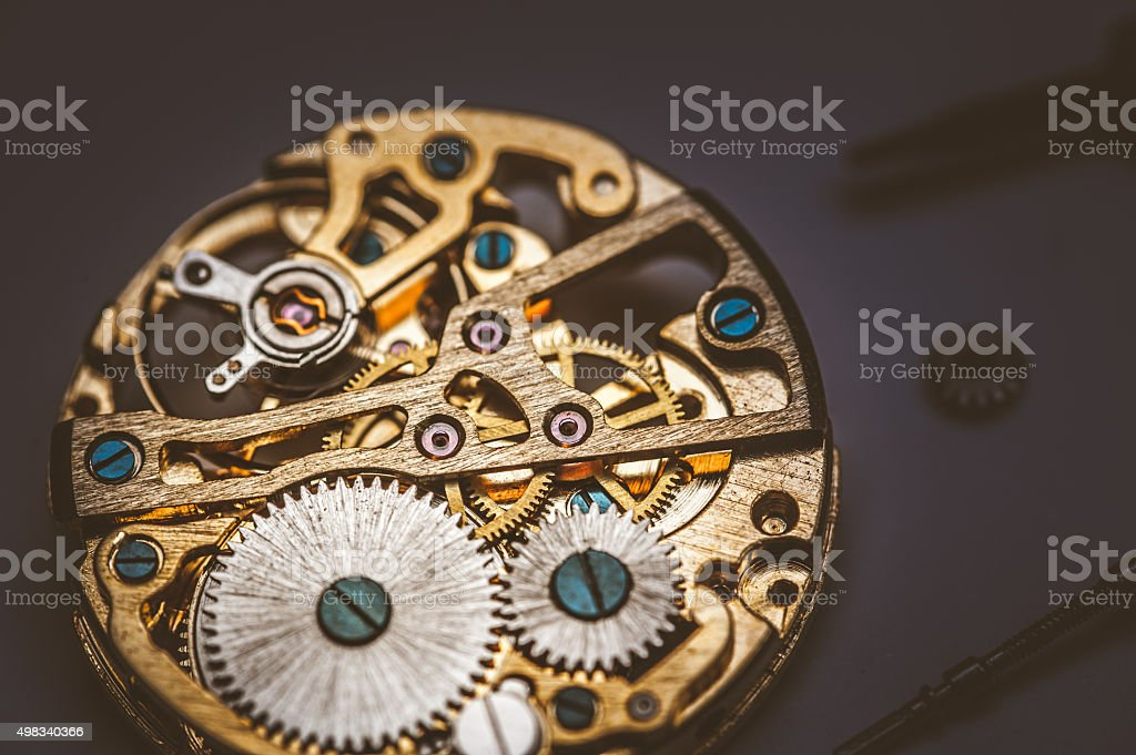 Inside the Pocket Watch stock photo