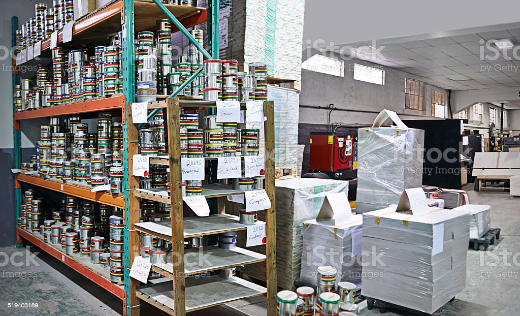 Inside the printing industry stock photo