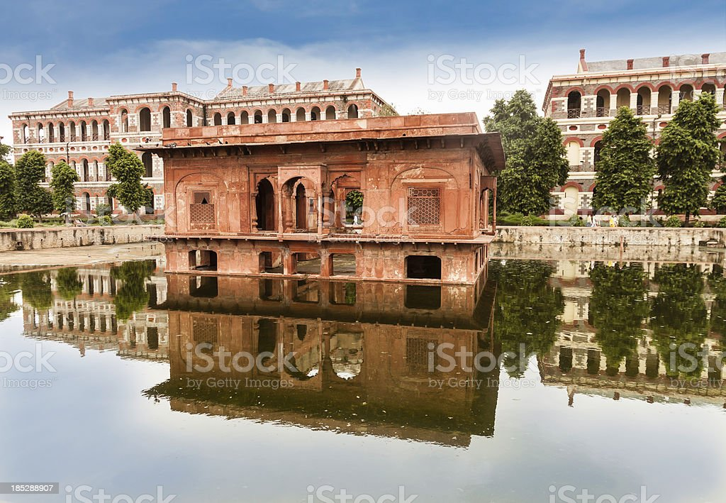 Inside the Red Fort, Delhi stock photo