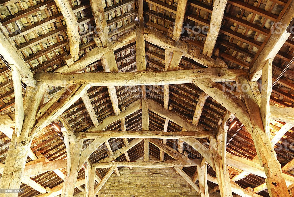 Inside the Roof royalty-free stock photo