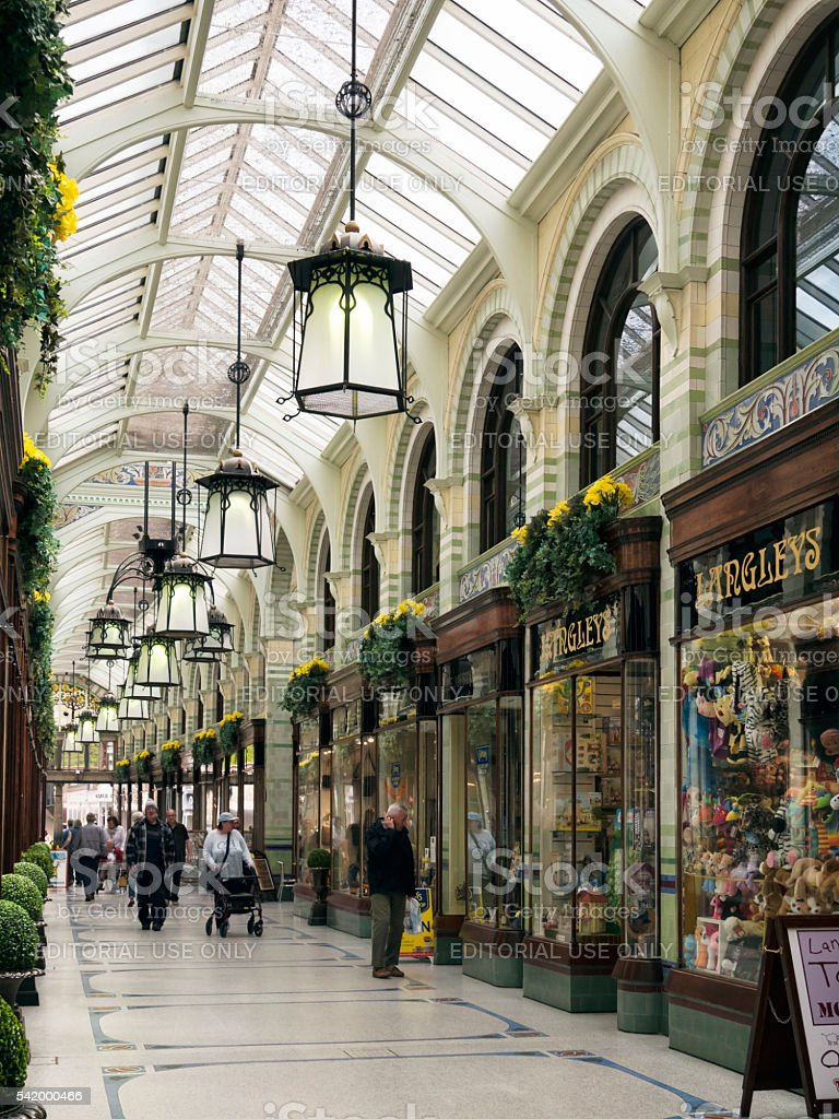 Inside the Royal Arcade, Norwich stock photo