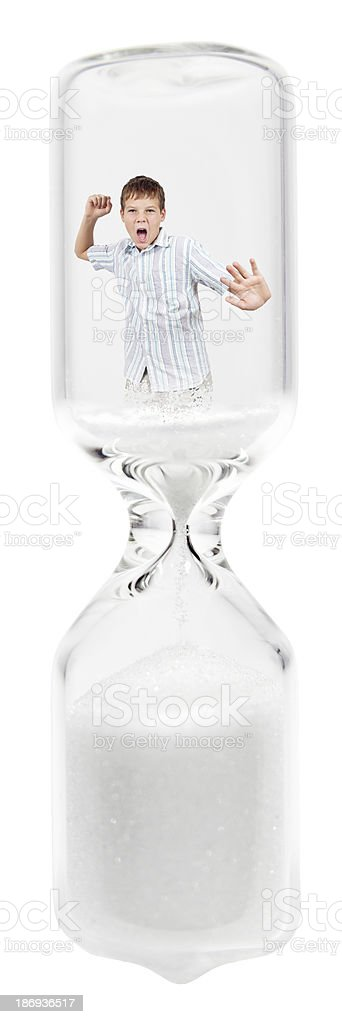 Inside the sand-glass royalty-free stock photo