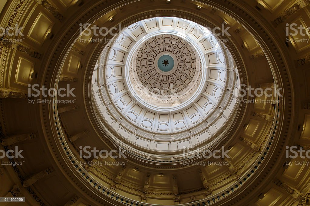 Inside The Texas Capitol Dome stock photo