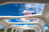 Inside the USS Arizona memorial, Pearl Harbor, Hawaii