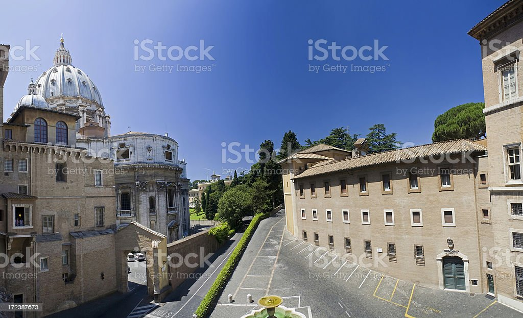 Inside the Vatican Museum stock photo