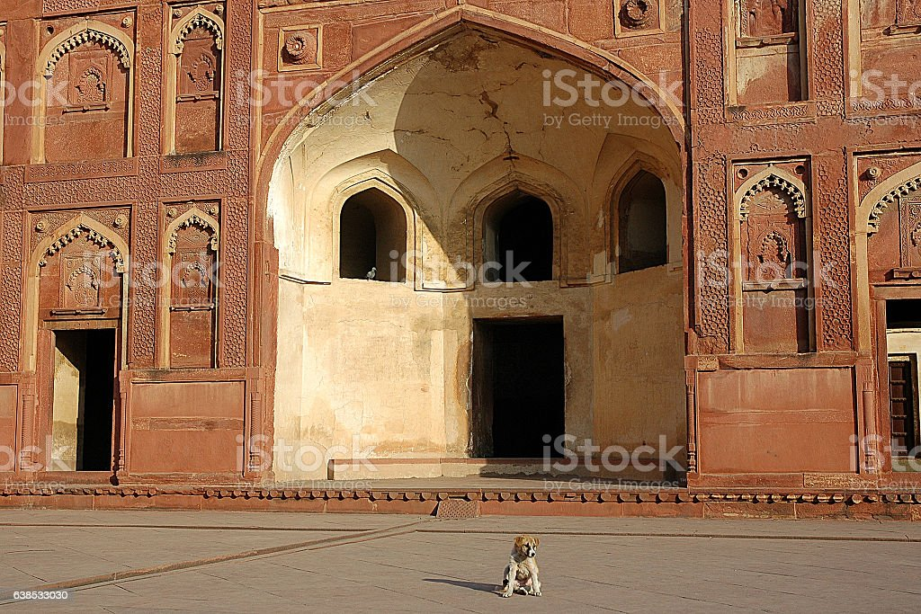 Inside the Walls of Agra Fort stock photo