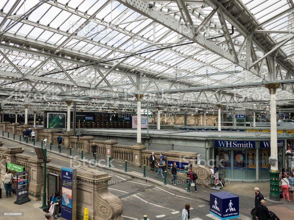 Inside the Waverly Station, Edinburgh stock photo