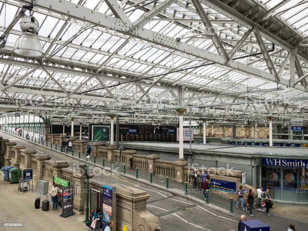 Inside the Waverly Station in Edinburgh, Scotland stock photo