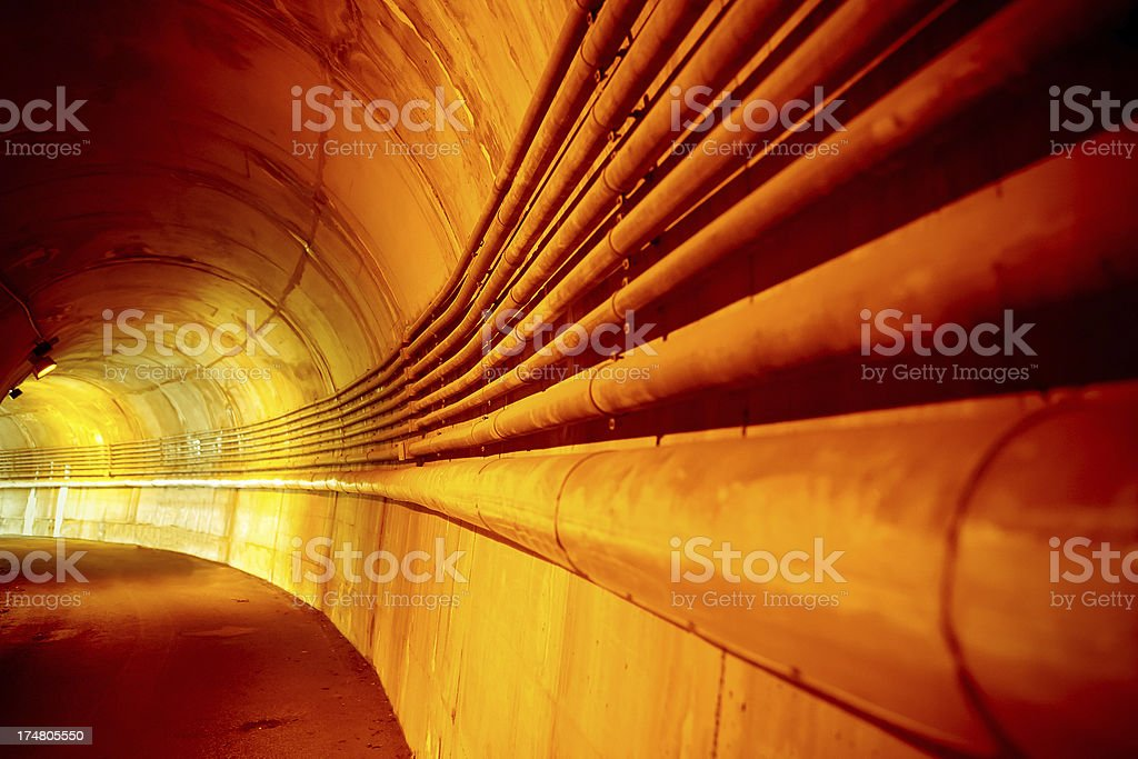 Inside tunnel royalty-free stock photo