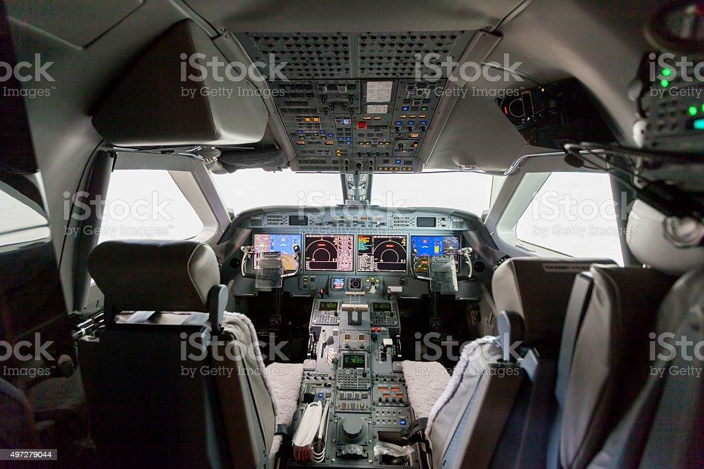 Inside view Cockpit G550 stock photo