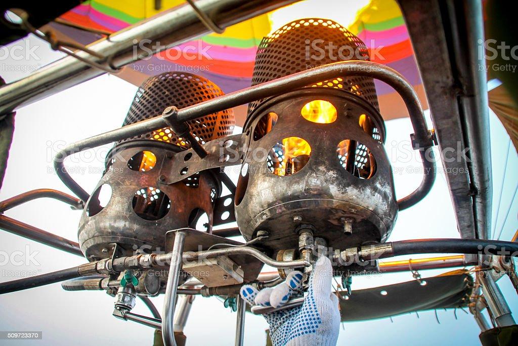 Intérieur vue d'un montgolfière photo libre de droits