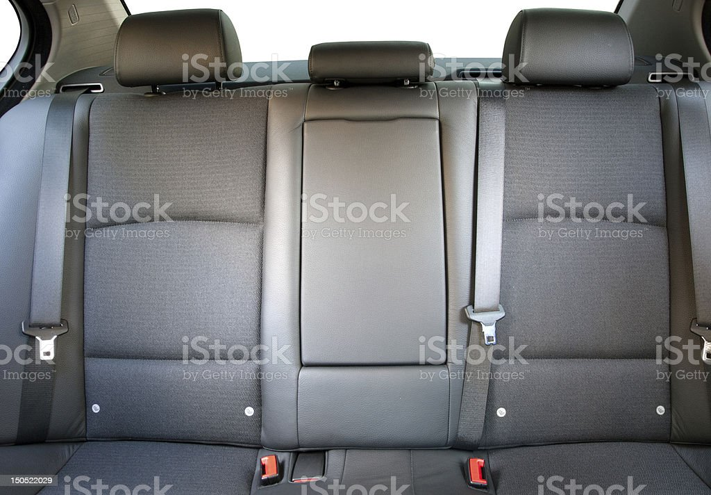 Inside view of back passenger car seats stock photo