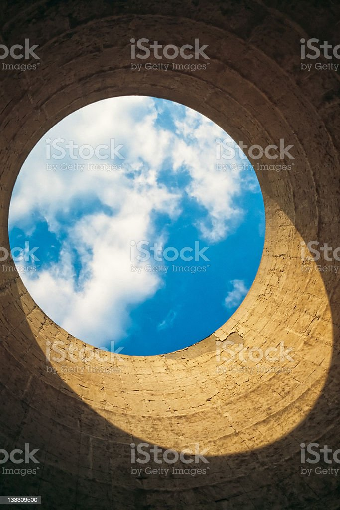 Inside view of cooling tower. royalty-free stock photo