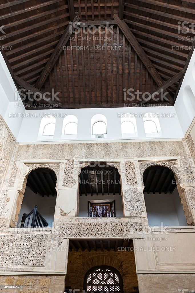 Inside view of Cordoba Synagogue stock photo