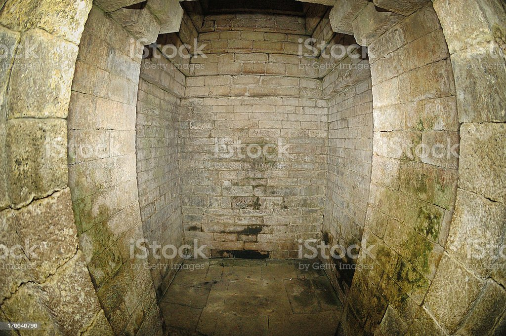 Inside view of Kidal Temple stock photo
