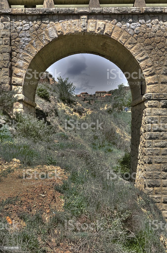 Inside village, the arch royalty-free stock photo