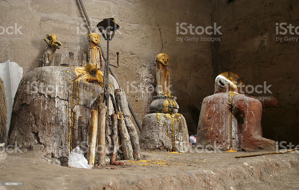 inside voodoo temple royalty-free stock photo