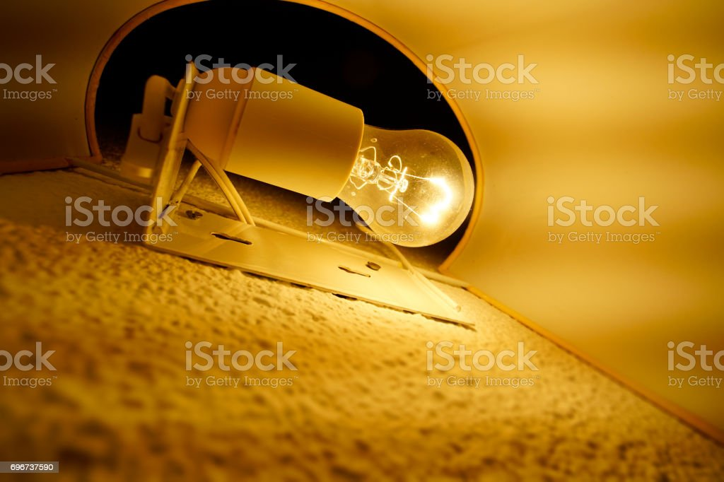 Inside wall lamp stock photo