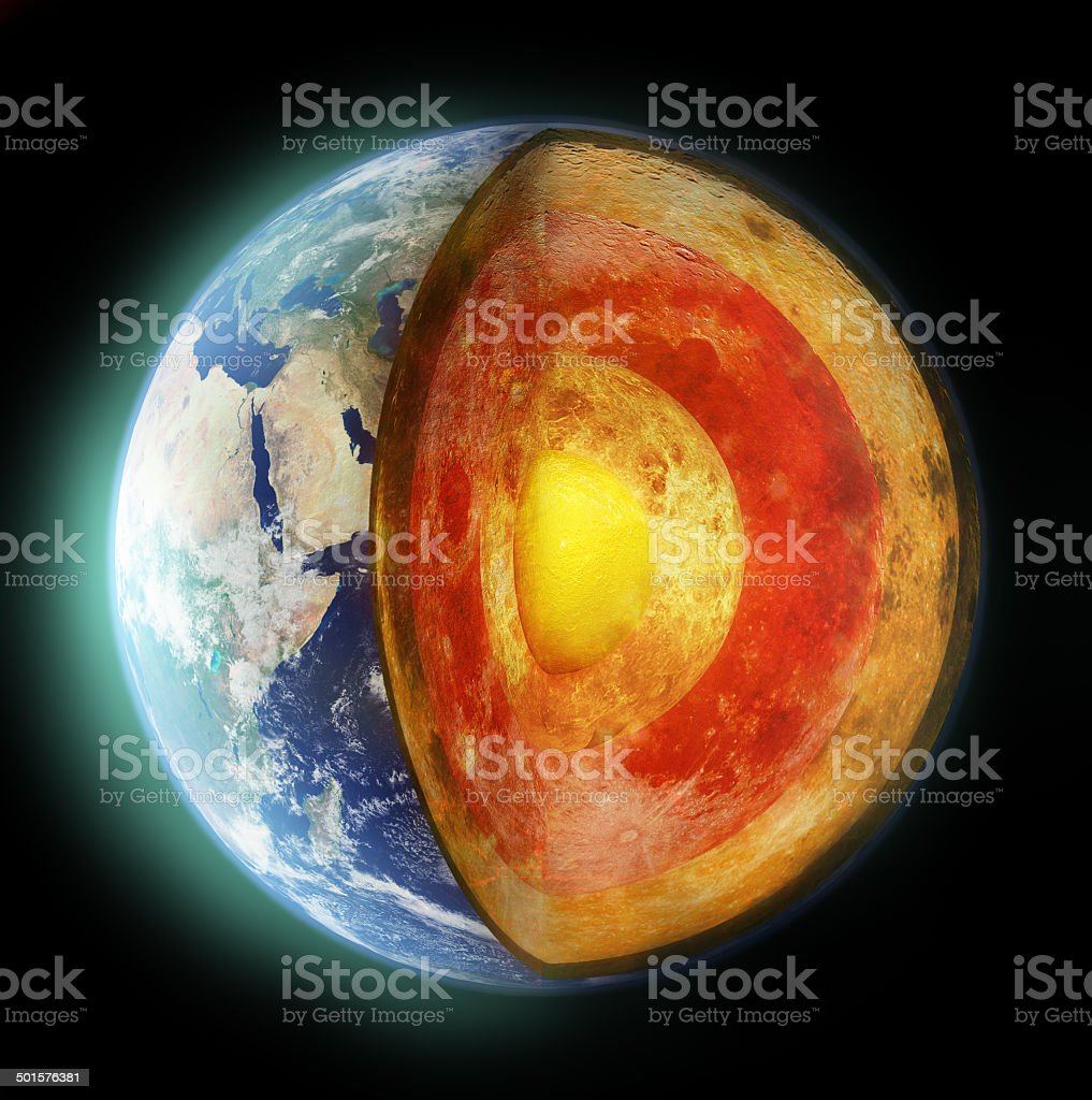 Insight into the inner workings of our planet stock photo