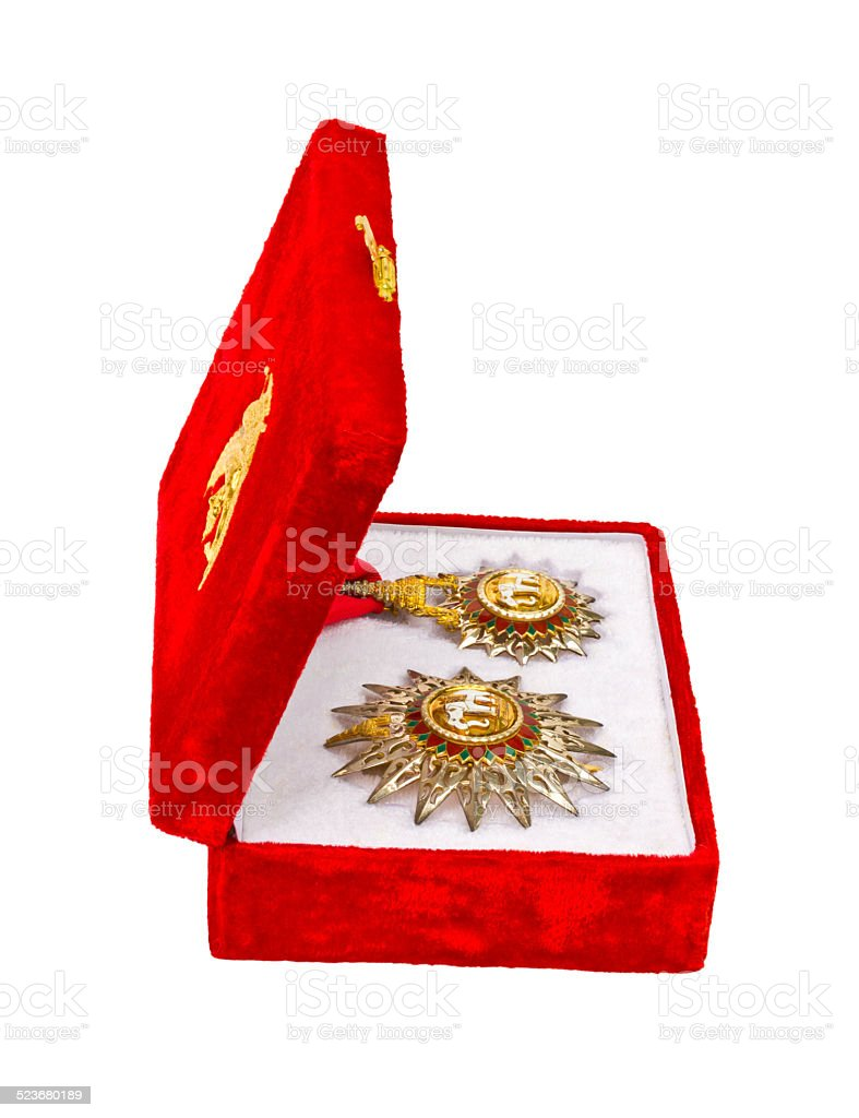 Insignia coins. stock photo