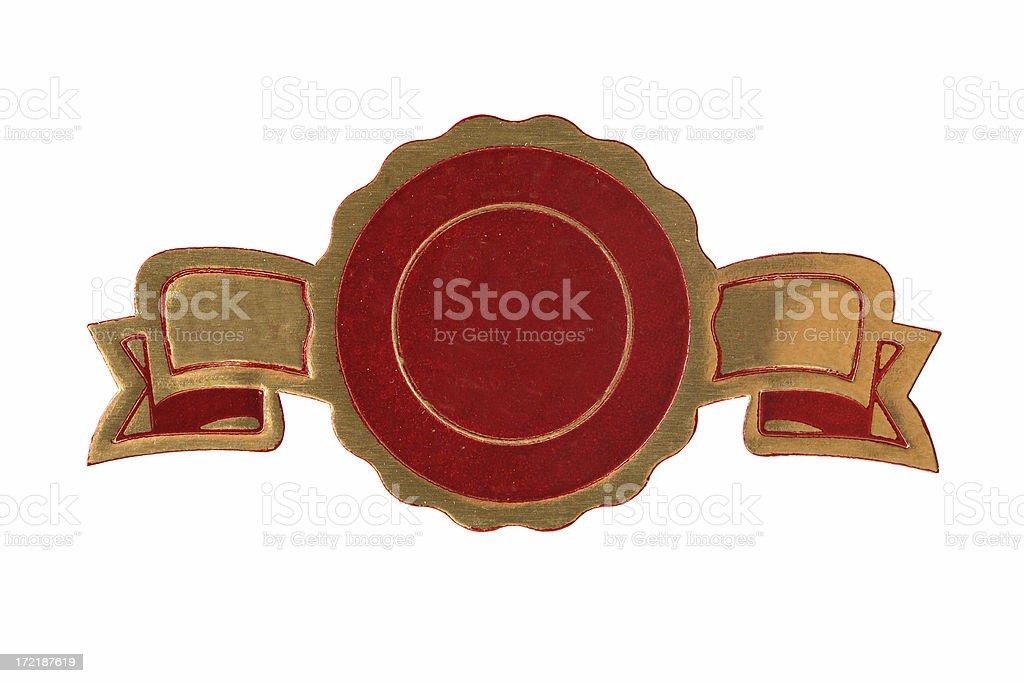 Insignia Gold Seal stock photo