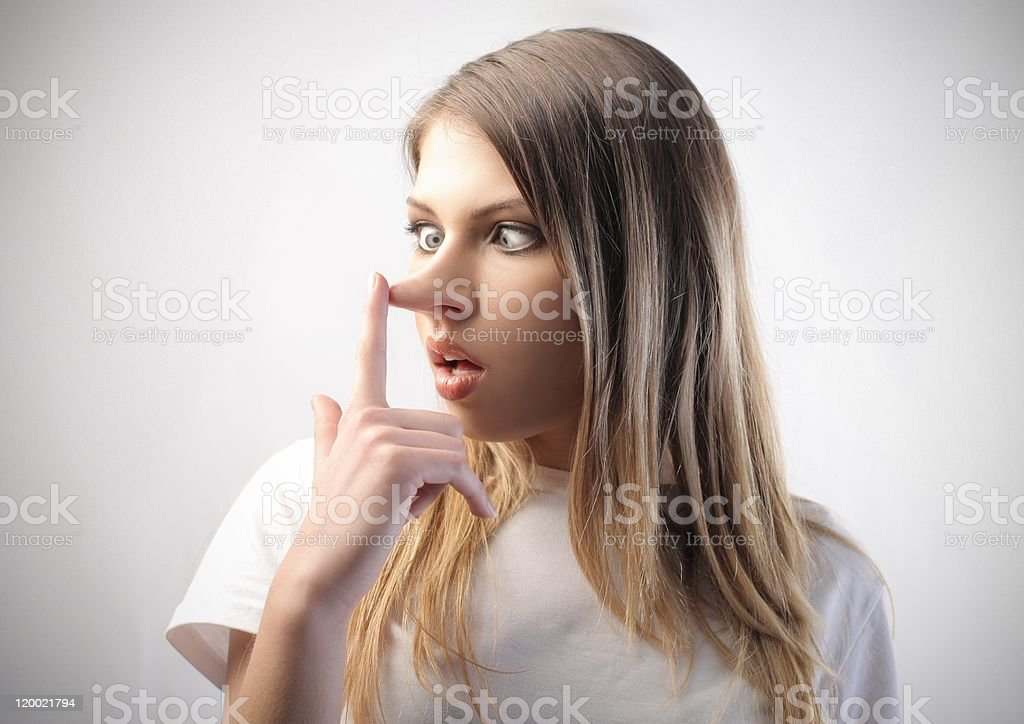 Insincere stock photo