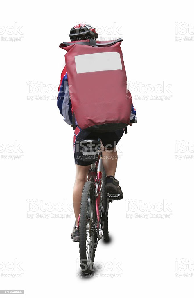 Insolate bicycle messenger stock photo