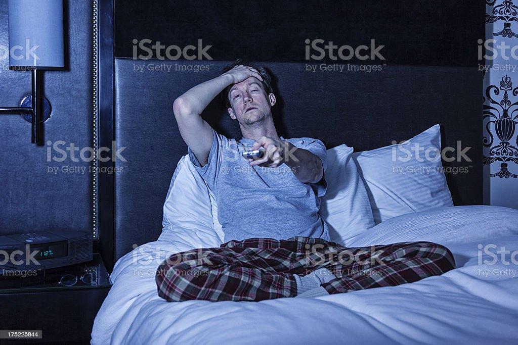 Insomniac stock photo