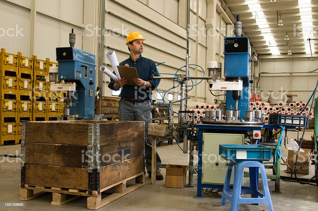 Inspecting Factory royalty-free stock photo
