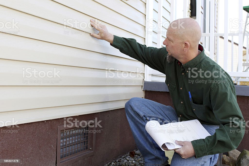 Inspecting House royalty-free stock photo